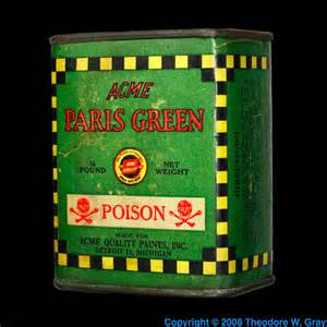 Lu Periodic Table Paris Green Pigment Poison A Sample Of The Element