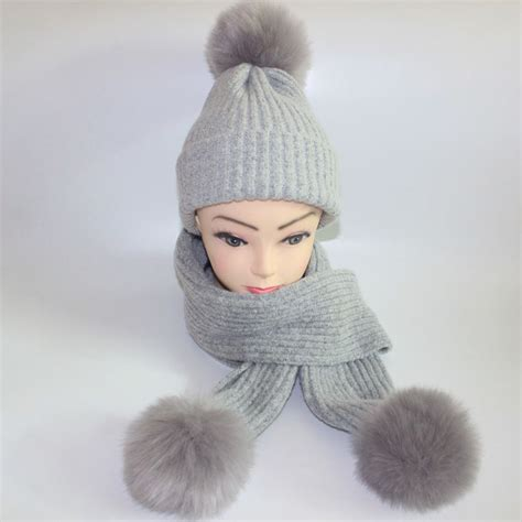 warm s winter hats scarves knitted scarf and hat set