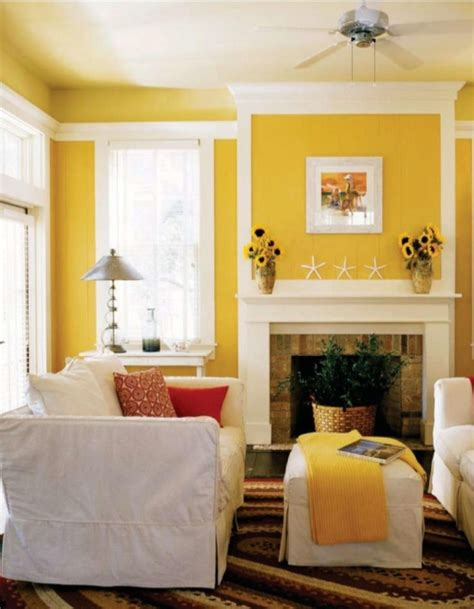 Yellow Walls Living Room by Modern Living Room With Yellow Color D S Furniture