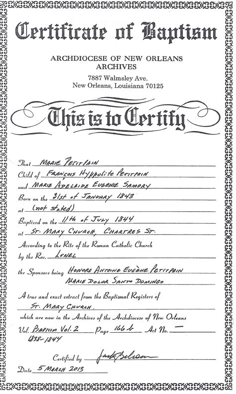 Birth Records New Orleans Scrapbook Generated By Family Tree Heritage