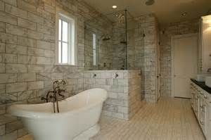 large marble subway tiles transitional bathroom har