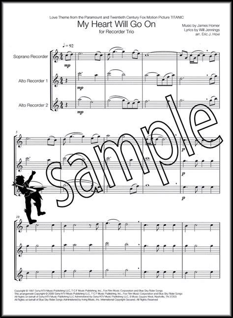 My Heart Will Go On Recorder Sheet Music - www.nyustraus.org ...