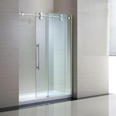 Clear Glass Shower Door Schon Lindsay 60 In X 79 In Semi Framed Shower Enclosure With Sliding Glass Shower Door In