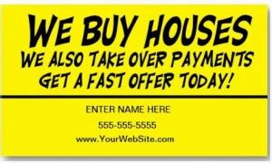 we buy houses business cards why buy investment real estate property from a wholesalers