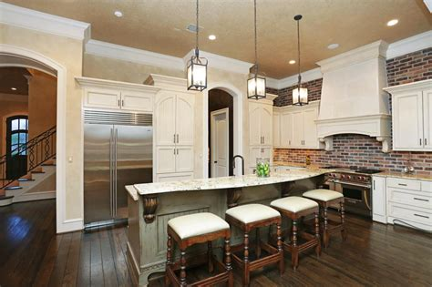 what is a backsplash in kitchen brick backsplash in the kitchen presented with colors