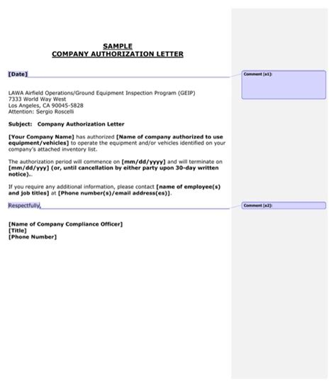 Authorization Letter Ust company authorization letter for free formtemplate