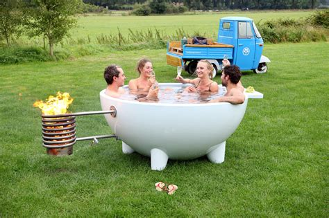outdoor hot tub contemporary mobile and wood burning hot tub digsdigs