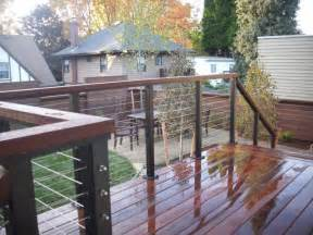 ipe deck with stainless steel cable rail deck masters llc portland or