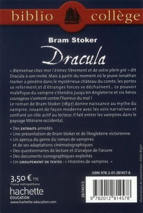 Draculas Resume by Livre Bibliocollege Dracula N 81 De Lisle I
