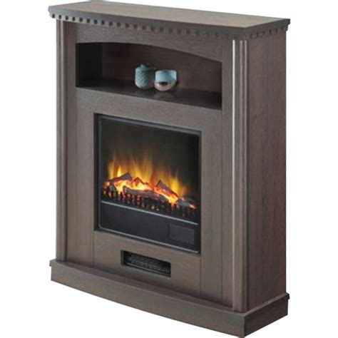 comfort glow sardonia electric fireplace heater brown