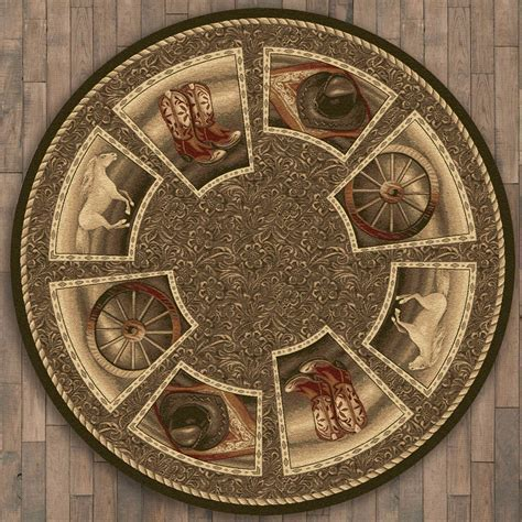 Western Home Rug   8 Ft. Round