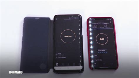 wifi speed test samsung galaxy s9 vs iphone x 400mps
