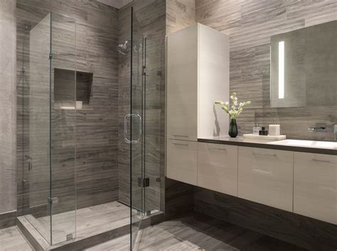 modern bathrooms tiles modern bathroom gray white white floating vanity