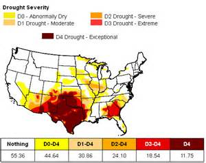 map of us drought states drought intensifies in the us south 171 earth
