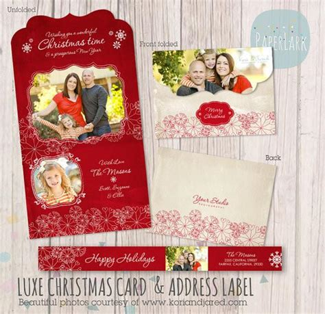 Folded Luxe Card Template by Card Trifold Template Yc002 Paper Lark Designs