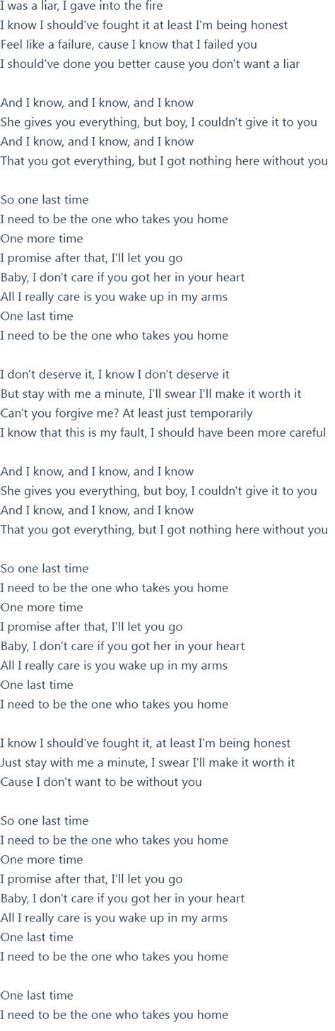 One Last grande one last time lyrics official