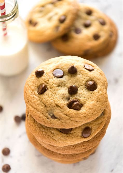 A Cookie chocolate chip cookies soft recipetin eats