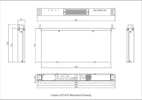 1u 19 quot rackmount mini itx platform liantec r1c series