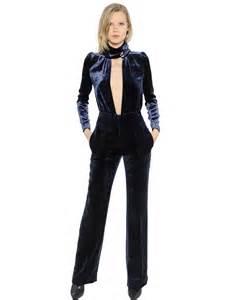sonia rykiel women s stretch silk blend velvet jumpsuit