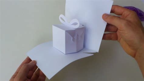 pop up present card template blank manual cutting template for birthday