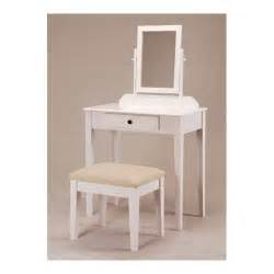 white bedroom vanity table with tilt mirror cushioned bench vanity