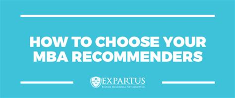 How To Choose A Mba Program by Expartus Mba Recommenders How To Choose Your