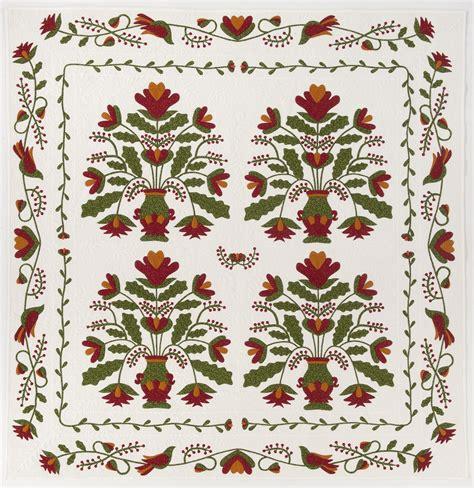 vintage flower pattern quilt marianne elizabeth s pot of flowers four block applique