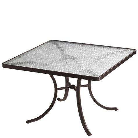 tropitone 1877 acrylic and glass tables 42 inch square