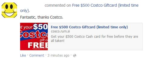 Costco Gift Card Email Scam - facebook scam archives online investigations