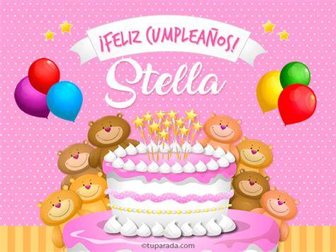 imagenes feliz cumpleaños fatima cumplea 241 os de stella stella tarjetas