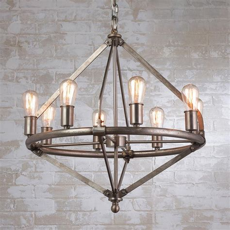industrial chandeliers by ralph colton 8 light chandelier kitchen