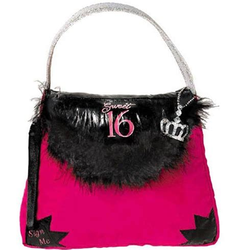 birthday autograph purse pillow sweet 16 store
