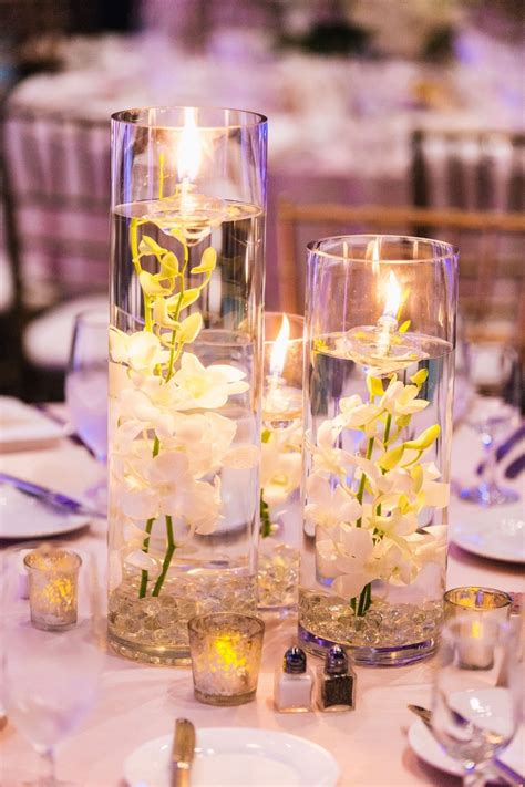 wedding centrepieces with floating candles 10 submerged flower wedding centerpieces 19323