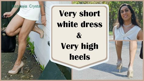 Crossdresser   very short dress and very high heels