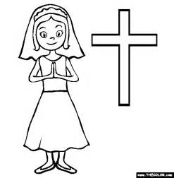 communion printable pages clipart