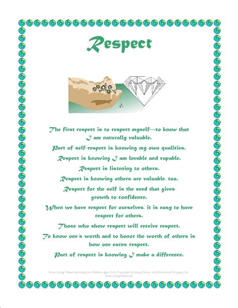 printable respect quotes free coloring pages of respect worksheets