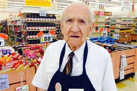 94 year grocery store worker gets laid cries from