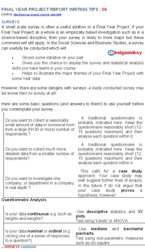 Report Writing Tips by Electronics Year Projects Year Project Report Writing Tips