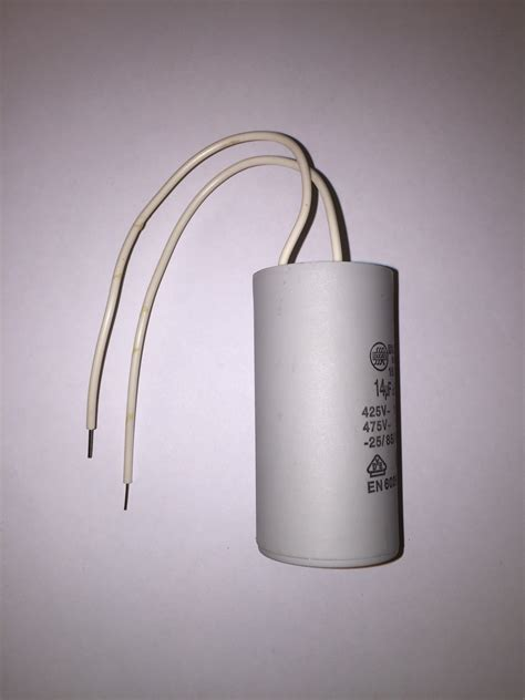 motor run capacitors white pig tails