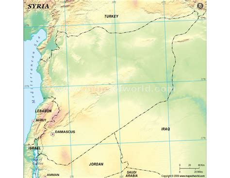 Syiria Green buy syria blank map green