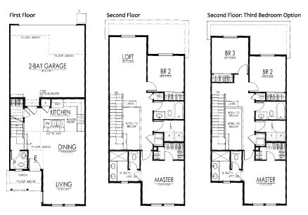 Kitchen Floor Plans With Islands Townhomes Jm Weston Homes