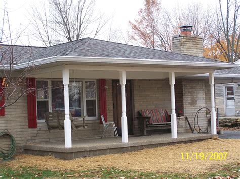 room addition covered front porch