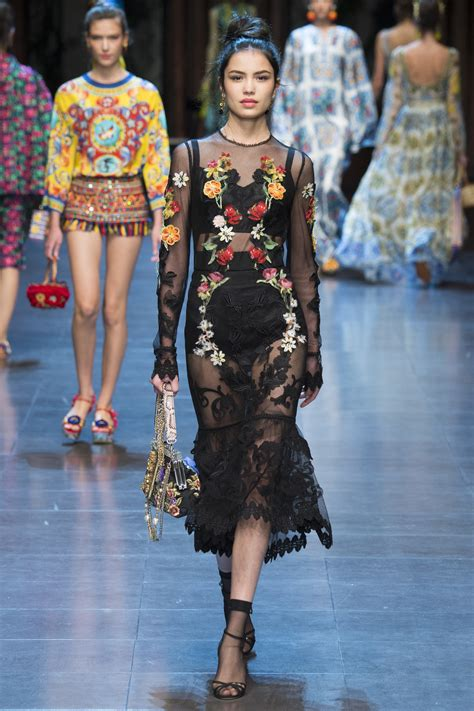 Editorial Dress Of The Month Dolce Gabbana by Flashes Black Bralet In Sheer Dress