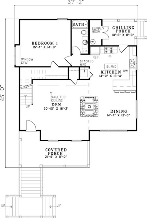 low country floor plans elevated cottage house plan 59968nd 1st floor master suite cad available cottage low