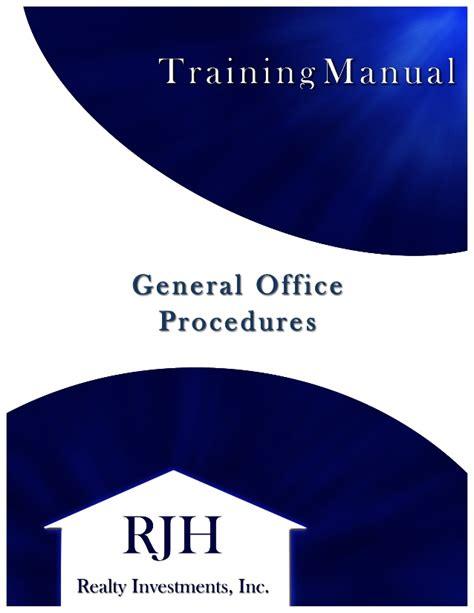 rjh training manual sample