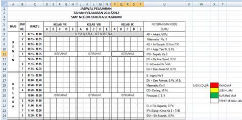 membuat tabel jadwal html cara membuat jadwal pelajaran dengan ms excel masmuhtar