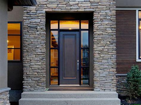 model dinding batu alam minimalis modern rumah impian