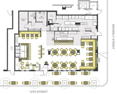 2 story restaurant floor plans commercial bar design plans looking with commercial