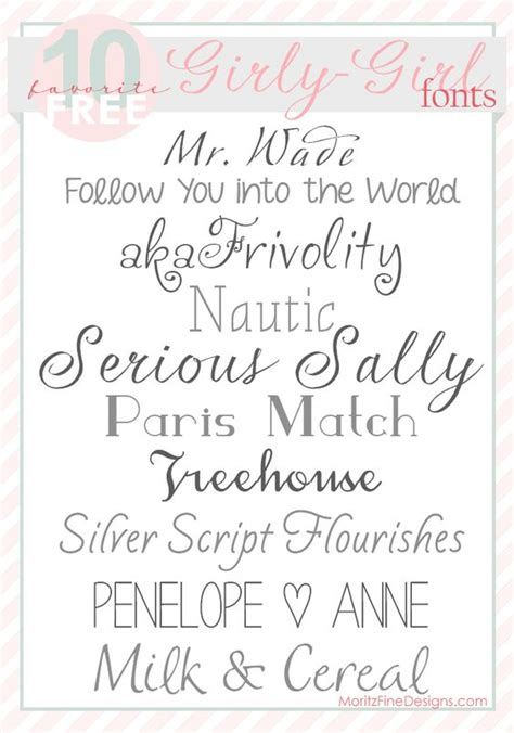 tattoo fonts girly sweet pretty fonts for girly free font