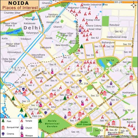 places of interest in map places to visit in noida and tourist destinations near noida